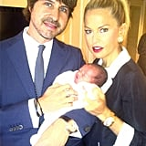 Rachel Zoe with husband Rodger Berman and newborn son Skyler Morrison. Source