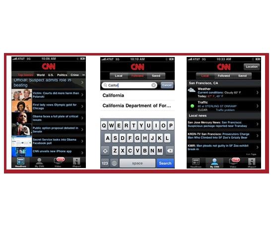 CNN's Pretty New iPhone App