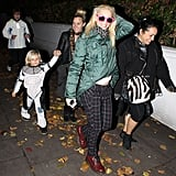 Gwen Stefani took Zuma Rossdale trick-or-treating in London.