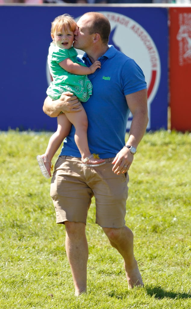 Mia Tindall got a kiss from daddy at the British Horseriding Championships earlier this year.
