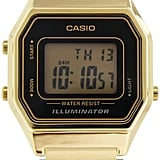 Casio Gold Tone Digital Retro Watch