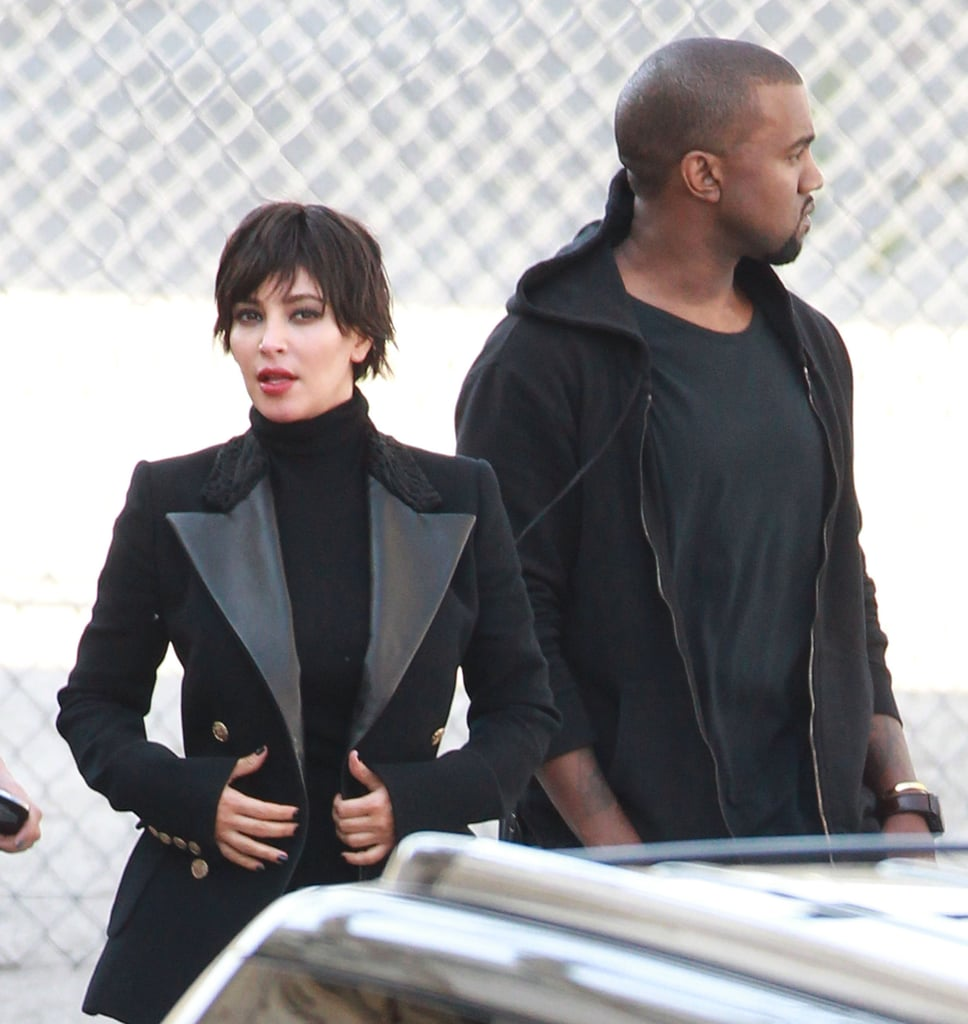kim kardashian and kanye west hung out together during the