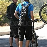 Photos of Orlando Bloom Mountain Biking