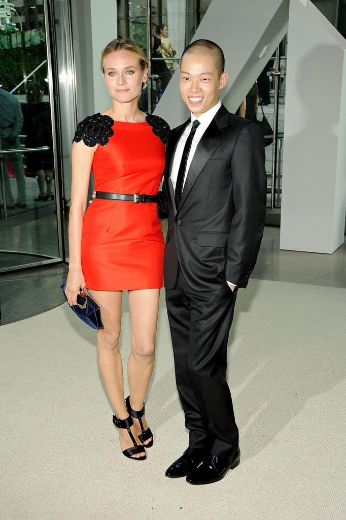 Diane Kruger in Jason Wu with the designer