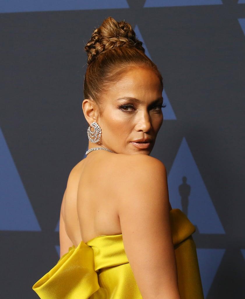 Jennifer Lopez's Braided Updo in 2019