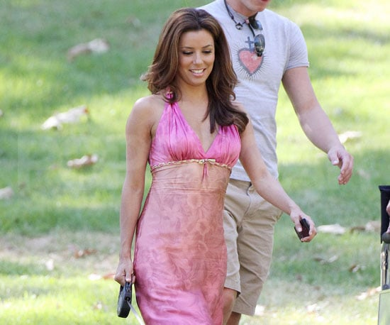 Slide Picture of Eva Longoria on the Set of Desperate Housewives in LA