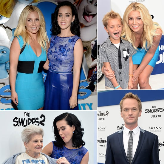 Katy Perry and Britney Spears at The Smurfs 2 LA Premiere