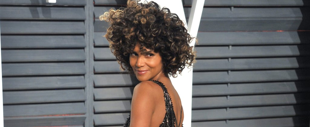 Halle Berry Versace Oscars Afterparty Dress 2017