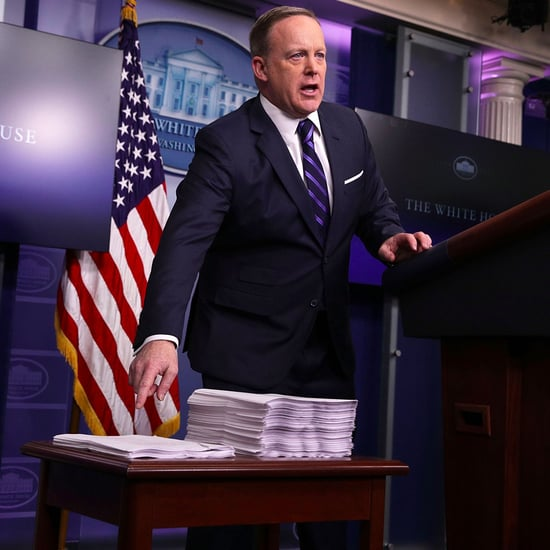Spicer Compares Healthcare Acts With Stacks of Paper