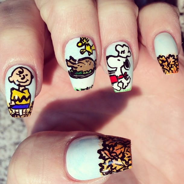Thanksgiving Nail Art Ideas Popsugar Beauty