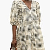 Ganni Checked Seersucker Mini Dress ($260)