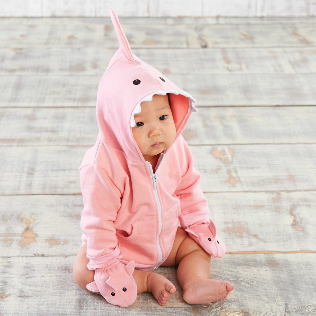 Baby Aspen 2-Piece Shark Happy Hoodie and Mittens Set
