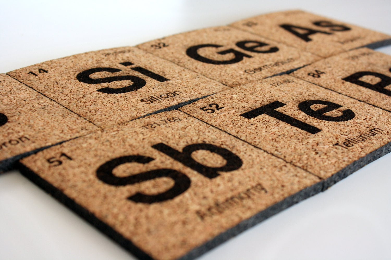 Periodic Table Coasters 23 Set Of Seven Scientifically