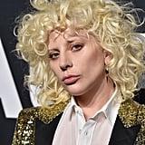 Lady Gaga at the Fall 2016 Saint Laurent Show