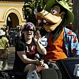 Kelly Osbourne rode a float with Goofy in September 2004.