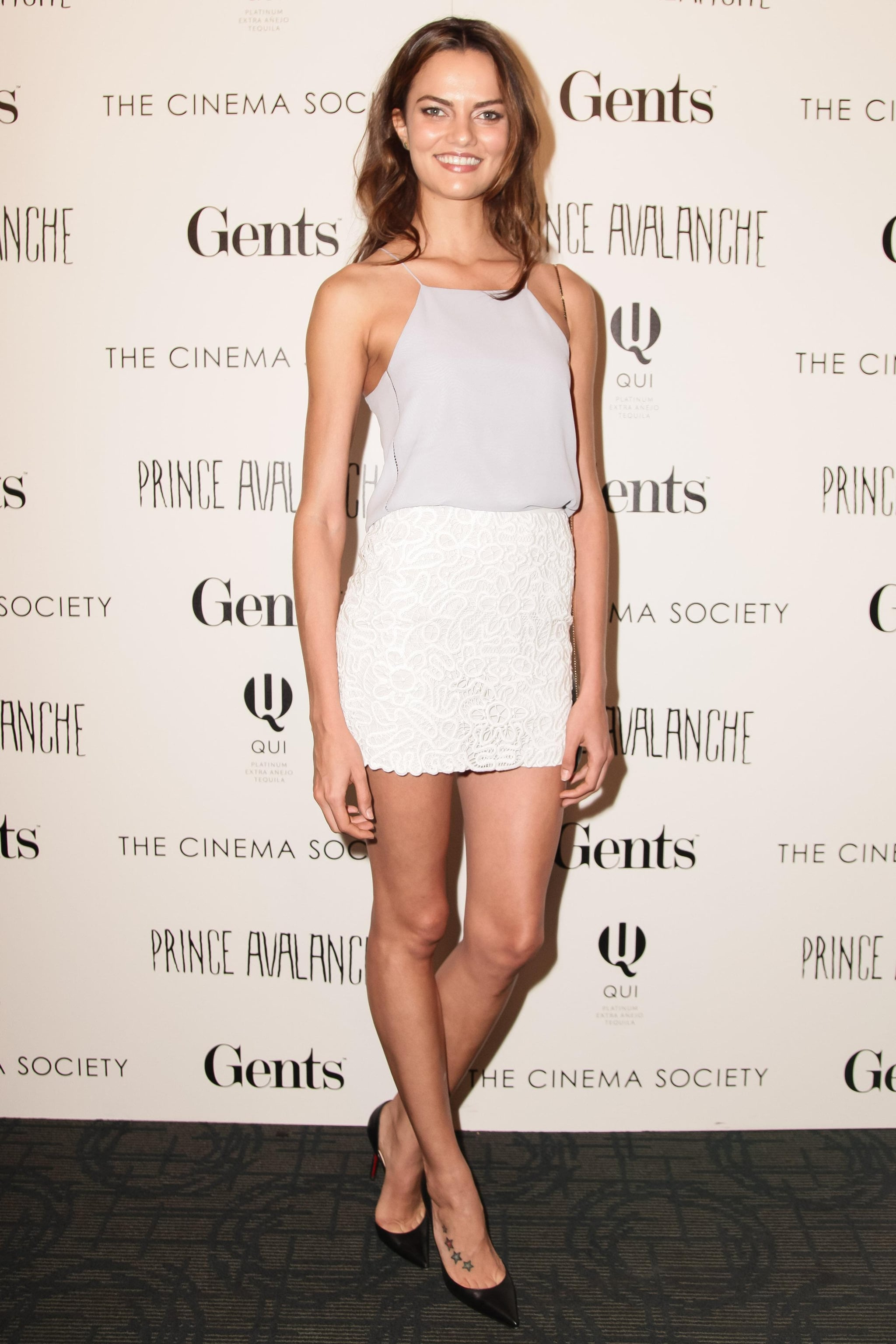 At The Cinema Society screening of Prince Avalanche, Barbara Fialho arrived in a minimalist ensemble.