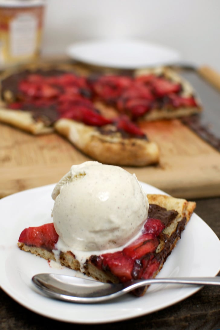 Dessert Pizza With Strawberries and Chocolate
