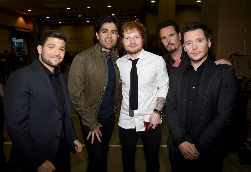 Ed Sheeran and the Entourage Cast