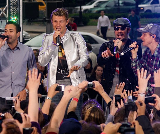 Slide Picture of the Backstreet Boys Performing on CBS's The Early Show