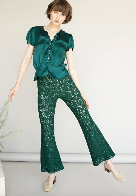 Lily Ashwell Edith Top ($245) and Flora Pants ($298)