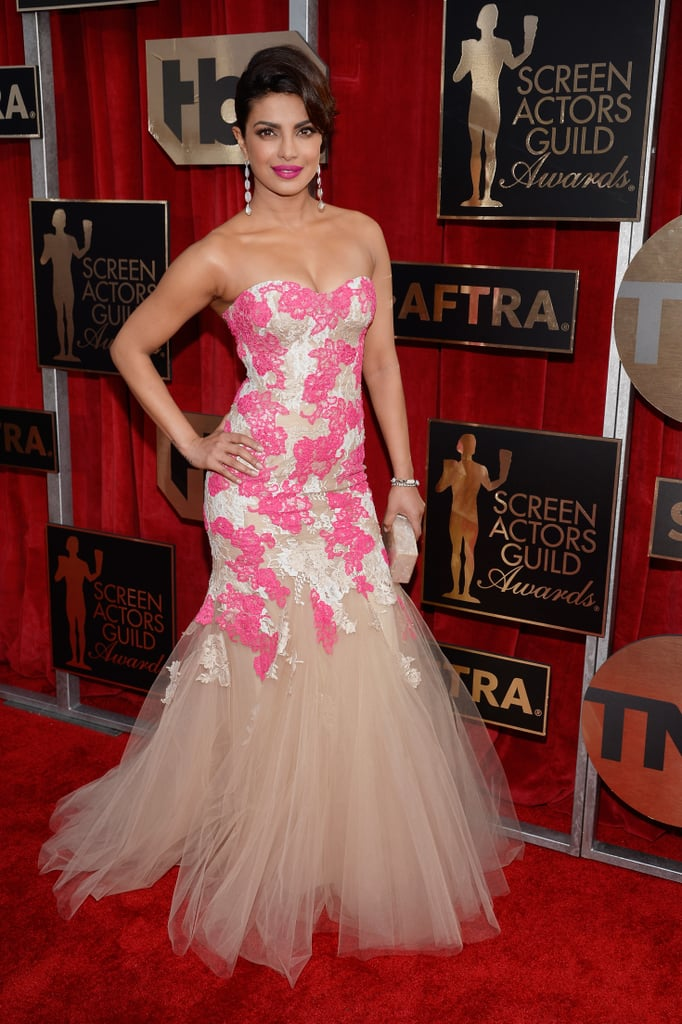 Priyanka Chopra in a Monique Lhuillier dress.