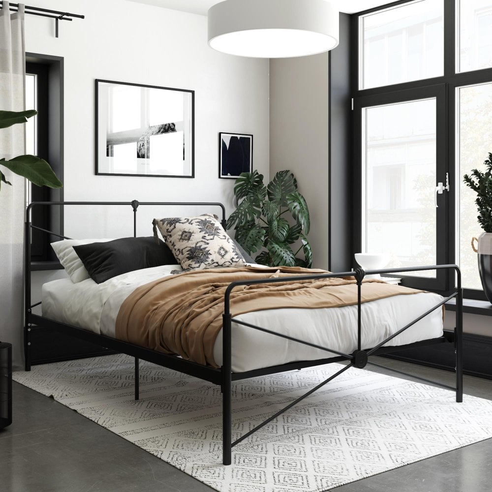 Queer Eye Leopold Modern Metal Bed