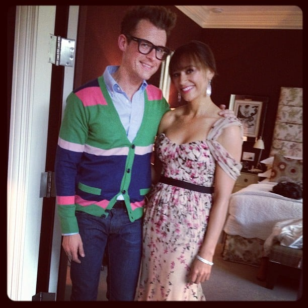 Brad Goreski helped Rashida Jones get ready. Source: Instagram User mrbradgoreski