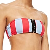 Topshop Stripe Bandeau Bikini Top