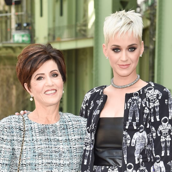 Katy Perry Sheet Masks in Public With Her Mom