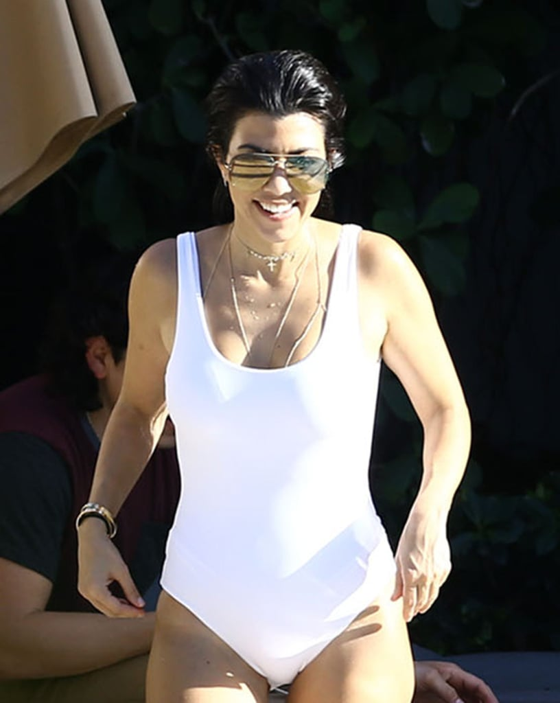 Kourtney Kardashian showed off her fit physique while vacationing in Miami in May 2016.