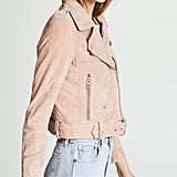 Blank Denim Candy Crush Suede Moto Jacket