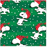 Peanuts Snoopy in Stocking Hat Christmas Wrapping Paper Roll