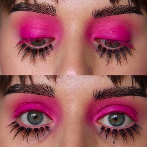 Upside Down Lashes Trend on Lower Lashes