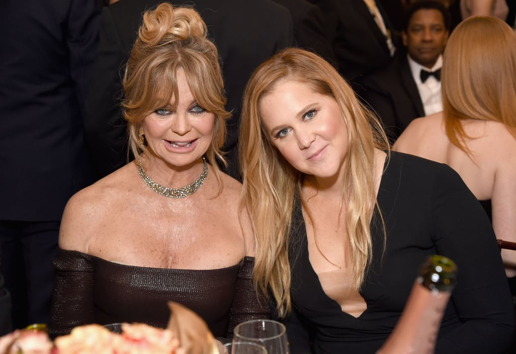 """I play the daughter, although I read for both parts."" — Amy Schumer, getting in a jab about how by Hollywood's standards, she could have played the mother in her upcoming film with Goldie Hawn."