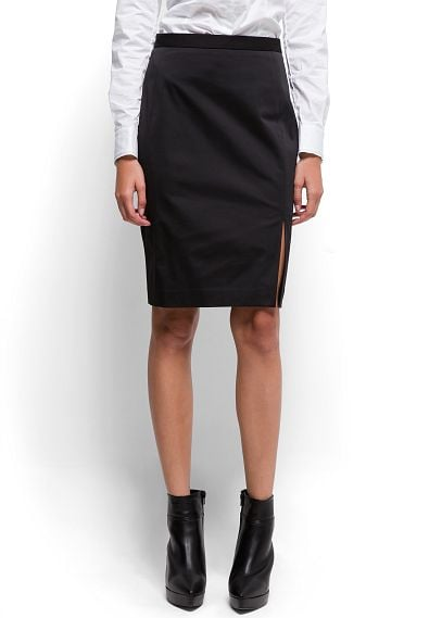 A subtle slit makes this Mango Lateral Slit Pencil Skirt ($60) just sexy enough to get away with during daytime hours. Just add tights and ankle boots to temper the sultry factor.