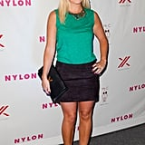 Elisha Cuthbert showed off her new engagement ring.