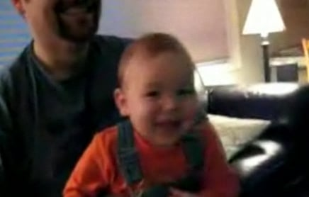 Baby Has Old Man Laugh