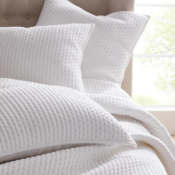 The Company Store Legends Paloma Cotton Textured Quilt in White
