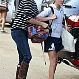 Reese Witherspoon helped Ava Philippe with her backpack