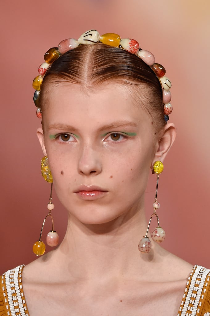 A Headband on the Ulla Johnson Runway at New York Fashion Week