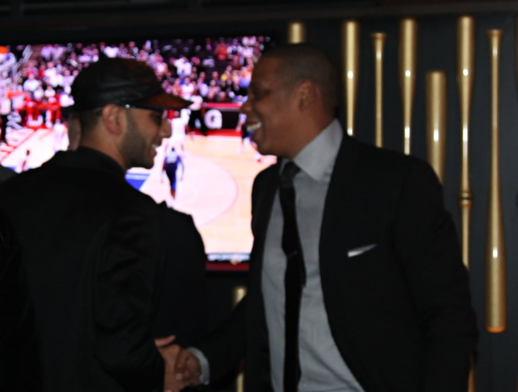 Jay-Z and Swizz Beatz watched the game together.