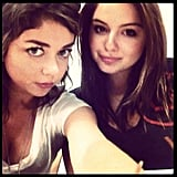 Sarah Hyland and Ariel Winter snapped a selfie before their Modern Family season five table reading. Source: Instagram user arielwinter