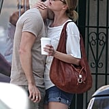 Emily VanCamp and Joshua Bowman were affectionate after having brunch in LA.