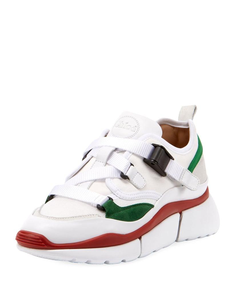 e49c6869ad50 Chloe Sonnie Multicolor Buckle Sneakers