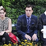 Leighton Meester shared a scene with Ed Westwick and Zuzanna Szadkowski.