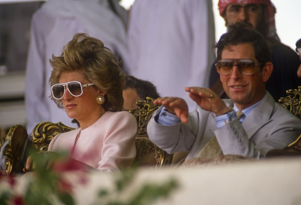 The pair wore sunglasses during the 1989 royal tour of the Gulf.