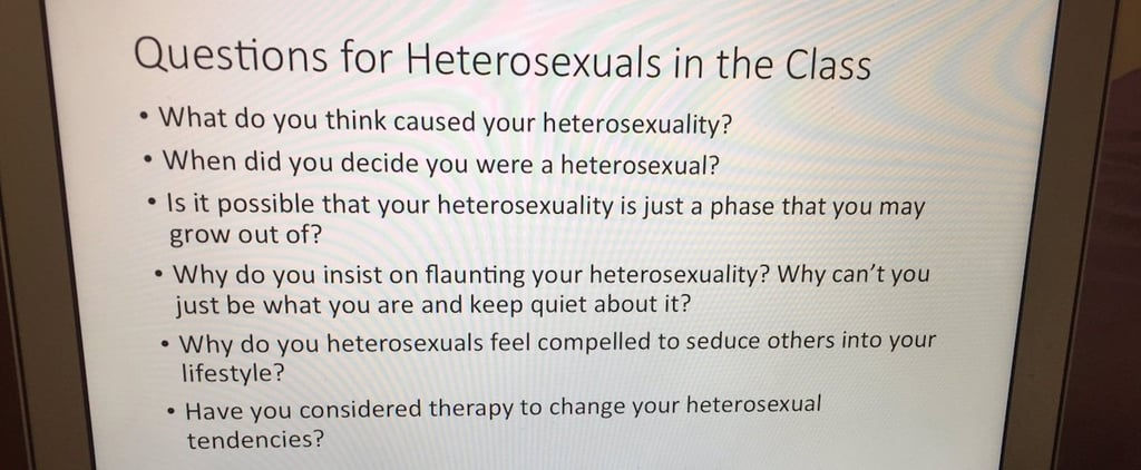 This Professor's Quiz on Heterosexuality Makes a Crucial Point About LGBTQ Misconceptions