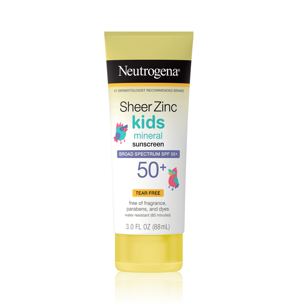 Neutrogena Sheer Zinc Kids Sunscreen Lotion, SPF 50