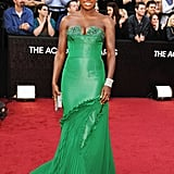 Viola Davis Wears Green Vera Wang For the Oscars Red Carpet
