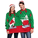 Mr. and Mrs. Claus Two-Person Ugly Christmas Sweater